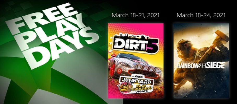 Free Play Days (18 au 21 mars 2021)