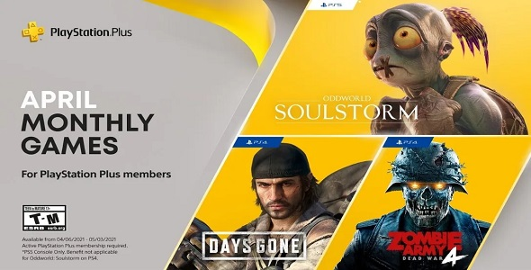 PS Plus - avril 2021
